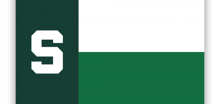 MSU Spartan Texas Flag