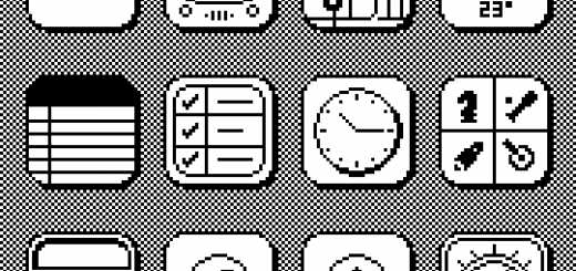 iPhone Screen in Vintage Mac style