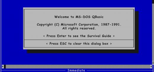 QBasic Screen in Comic Sans