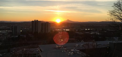 Mt. Hood and Rising Sun