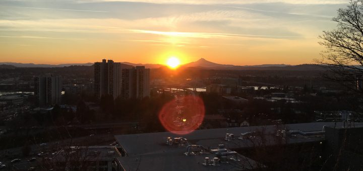 Mt. Hood and Rising Sun