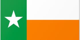 Texas Flag with Irish Colors